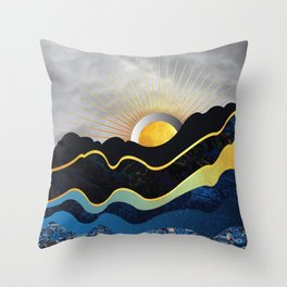 Underground Mountains Throw Pillow