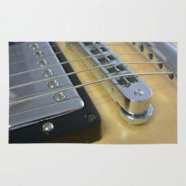 Close Up of Yellow Guitar Rug