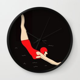 Vintage Swimmer Wall Clock