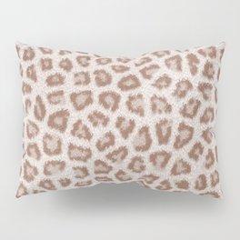 Abstract hipster brown white cheetah animal print Pillow Sham