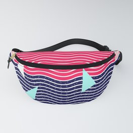 Hello Ocean Sunset Waves Fanny Pack
