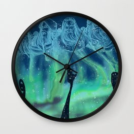 Viking warriors soul Wall Clock