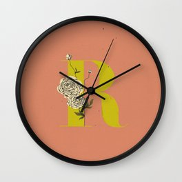R for Ranunculus Wall Clock