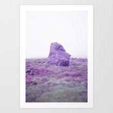 Foggy Stone Art Print