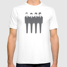 The Fab Four Mens Fitted Tee White MEDIUM