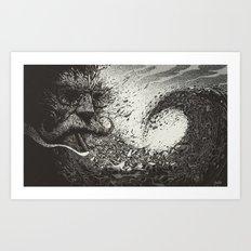 Scourge Of Man Art Print