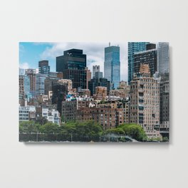 Midtown apartment buildings and east riverside view from Roosevelt Island Metal Print