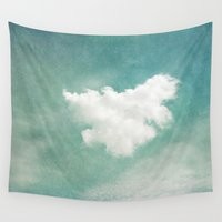 cloud Wall Tapestries featuring Cloud by Juste Pixx Photography