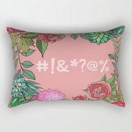 Pretty Bleeping Flowers Rectangular Pillow