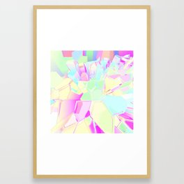 Colorful Crystals Framed Art Print