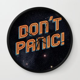 Don't Panic Wall Clock