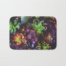 Colorful Succulent Plants Bath Mat