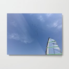 Finding the Wind Metal Print