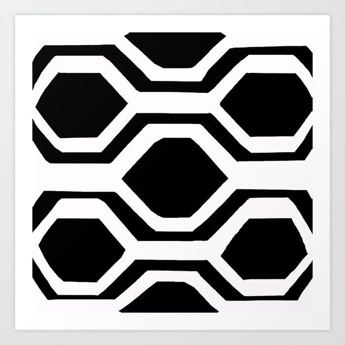 Black and White Geometric Kunstdrucke