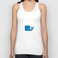 moby dick Tank Tops featuring Delightful Moby Dick by Phillip Gessert
