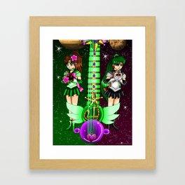 Fusion Sailor Moon Guitar #35 - Sailor Jupiter & Sailor Pluto Framed Art Print