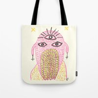 third eye Tote Bags featuring Third Eye by Nü Köza
