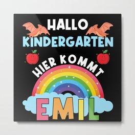 Hallo Kindergarten hier kommt Emil Metal Print