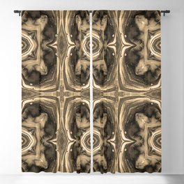 Pattern Abstract Shapes Yellowed Vintage Retro Blackout Curtain