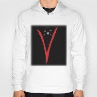 vendetta Hoodies featuring V for Vendetta (e6) by Ezgi Kaya