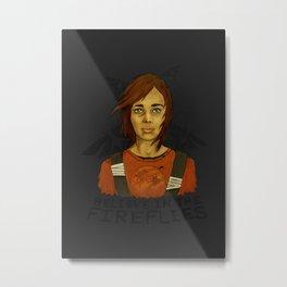 Believe in the Fireflies Metal Print