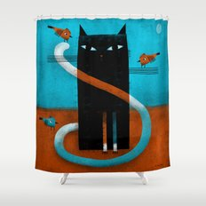 OFFSET WHISKERS Shower Curtain