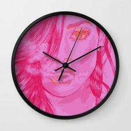 """""""Riri in Pink"""" Wall Clock"""