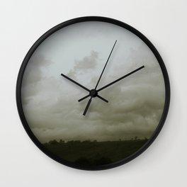 Dawn in the countryside Wall Clock