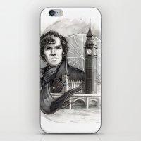 sherlock iPhone & iPod Skins featuring Sherlock  by RileyStark