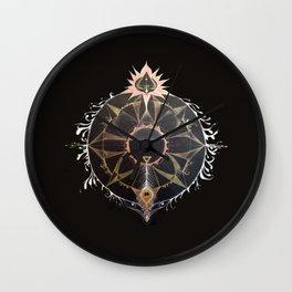 Saraswati Mandala Black Wall Clock