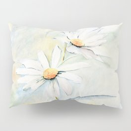 White Daisies Pillow Sham