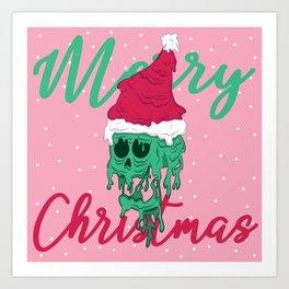 Melted Christmas Art Print