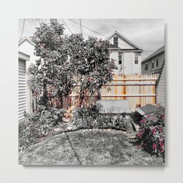 Virgil Avenue Fence Metal Print