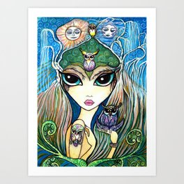 Owlette, The Owl Queen Art Print