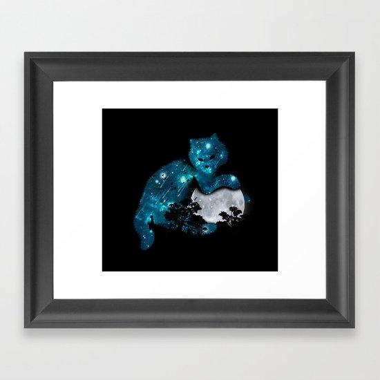 I can haz the moon Framed Art Print