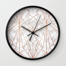 Art Deco Marble & Copper - Large Scale Wall Clock