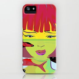 """""""Redhead Worry"""" Paulette Lust's Original, Contemporary, Whimsical, Colorful Art iPhone Case"""