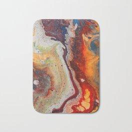 Fiery closeup Bath Mat
