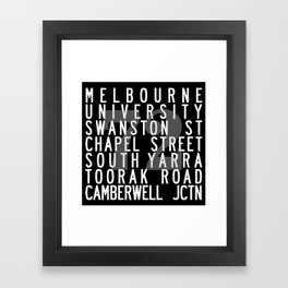 TRAM 72 Framed Art Print