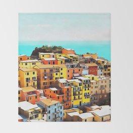 Manarola Liguria Throw Blanket