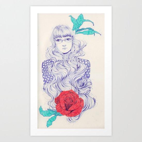 Flowery 02 Art Print