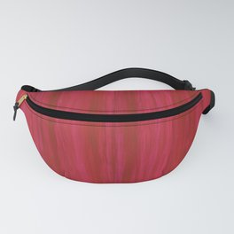Strawberry Colored Vertical Stripes Fanny Pack