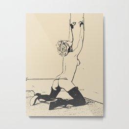 Spank me hard my Master - fetish erotic artwork, whipped slave girl BDSM, bondage games, kinky adult Metal Print