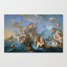 The Abduction of Europa by Noel-Nicolas Coypel, 1727 Canvas Print