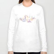 Watercolor landscape illustration_Istanbul - Saint Sophia Long Sleeve T-shirt