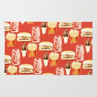 junk food Area & Throw Rugs featuring Junk Food by popsicledonut