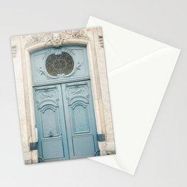Elaborate Baby Blue Door in Paris Stationery Cards