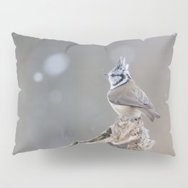 European Crested Tit Pillow Sham