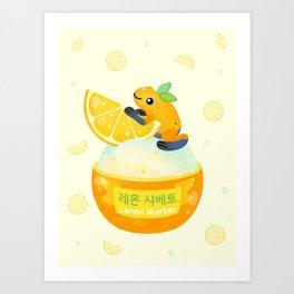 Golden poison lemon sherbet 2 Art Print