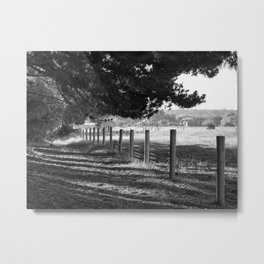 The Sun Strikes Through Rural NZ Metal Print